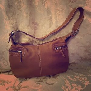 Small dark tan Tignanello purse